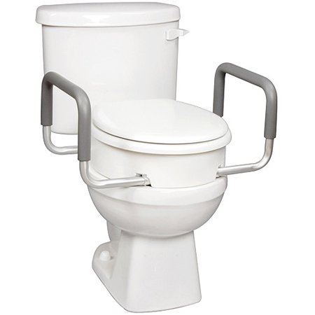 Carex Raised Toilet Seat Elevator With Arms For Elongated Toilets