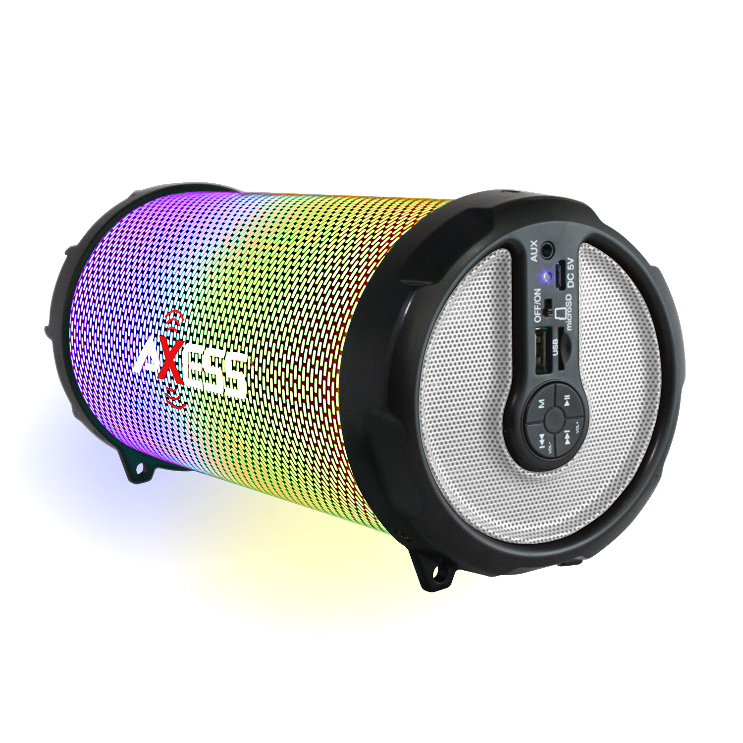 Axess LED BT Media Speaker In Silver