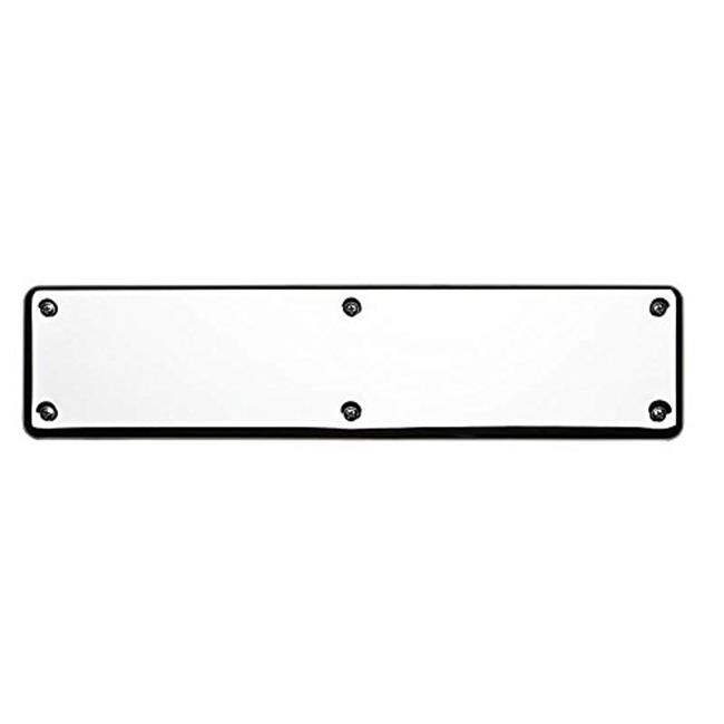 Baldwin 2110260 3.5 x 15 in. Solid Brass Round Corner Push Plate, Polished Chrome - image 1 de 1