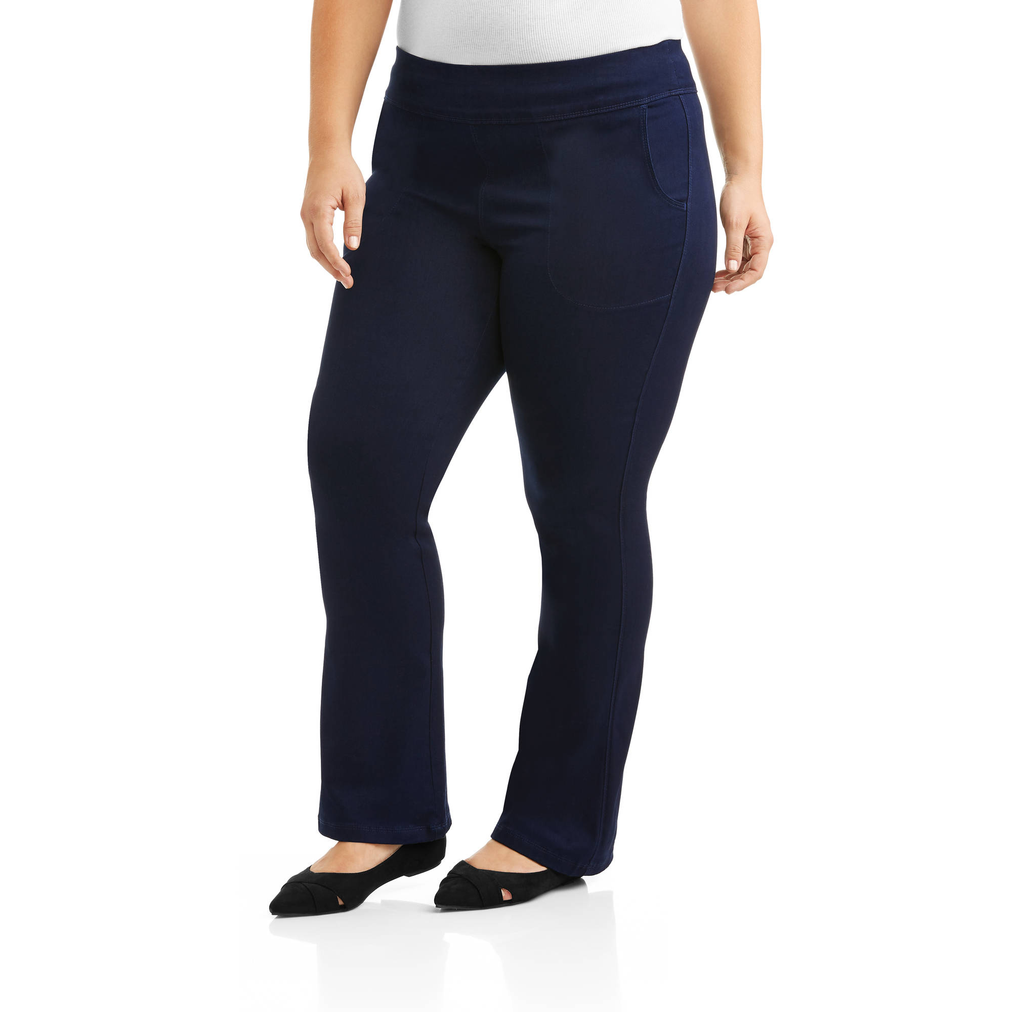 Just My Size Women's Plus-Size Smooth Waist Super Stretchy Pull-On Pants