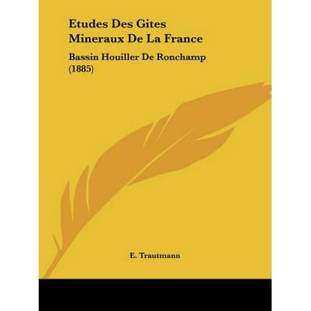 Etudes Des Gites Mineraux de La France : Bassin Houiller de Ronchamp (1885) ()