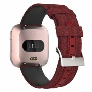 IGK Compatible for Fitbit Versa 2 Strap,Woven Canvas Wrist Strap Adjustable Replacement Buckle Band for Fitbit Versa 2/ Fitbit Versa/Fitbit Versa Lite Edition, Small Large Men Women