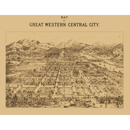 Panoramic Print Central City Colorado Kohfahl 1887 23 X 29 90