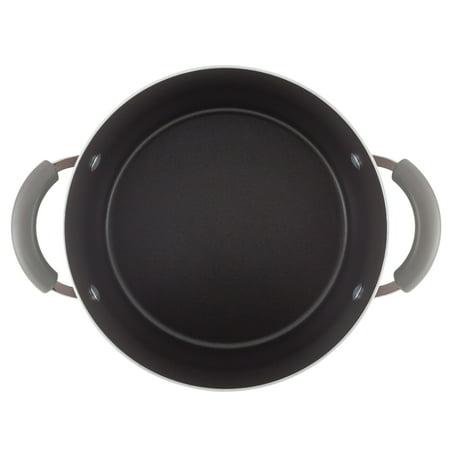 Rachael Ray 5.5 Quart Classic Brights Hard Enamel Nonstick Dutch Oven, Sea Salt Gray Gradient