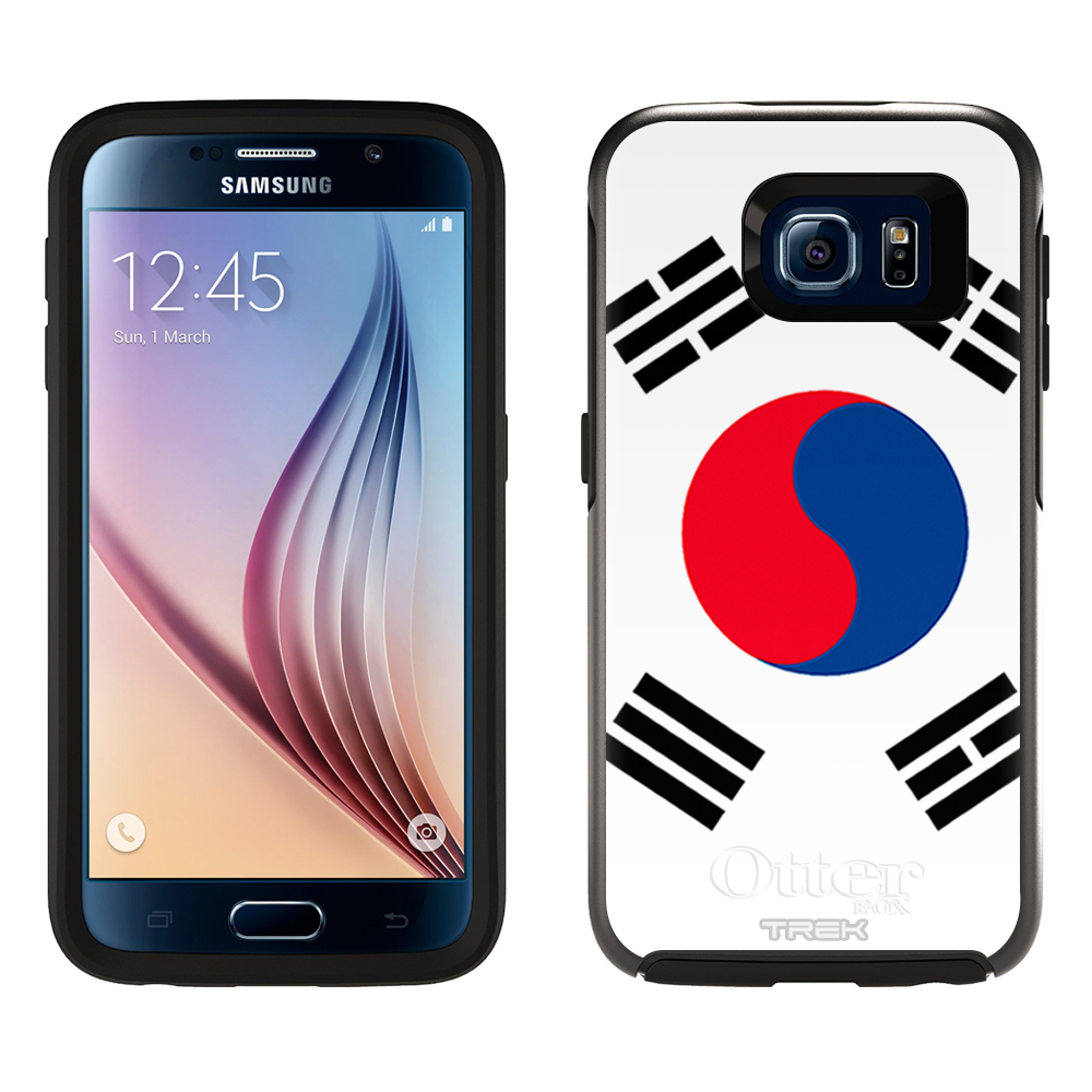 Skin Decal for OtterBox Symmetry Samsung Galaxy S6 Case South Korea Flag by Trek Media Group