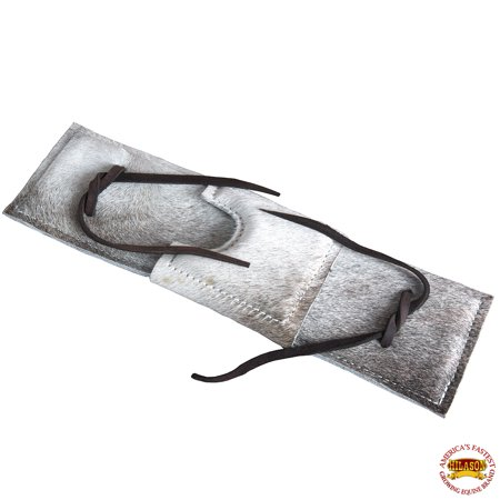 Pro Choice Saddle Pads - Hilason Hair On Genuine Leather Super Pro Rodeo Equipment Bull Rope Pad