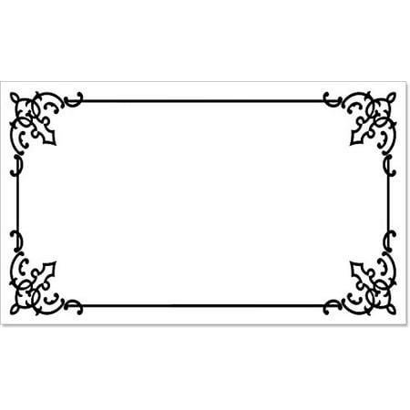 40 premium luxury decorative write on permanent rectangle labels