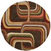 Hand-tufted Brown Contemporary Geometric Square Mayflower Wool Area Rug - 6'