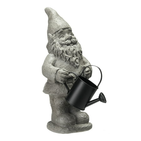 Mainstays Garden Gnome Statue with Watering Can - Evil Garden Gnome