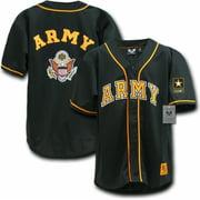 RapDom US Army Logo Mens Baseball Jersey [Black - L]