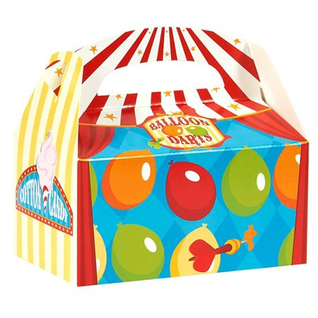 Carnival Games Empty Favor Boxes, Pack of 4 (Carnival Suppliers)