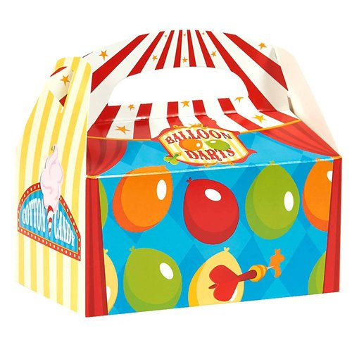 Carnival Games Empty Favor Boxes, Pack of 4