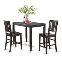 East West Furniture Buckland 3 Piece Scotch Art Dining Table Set
