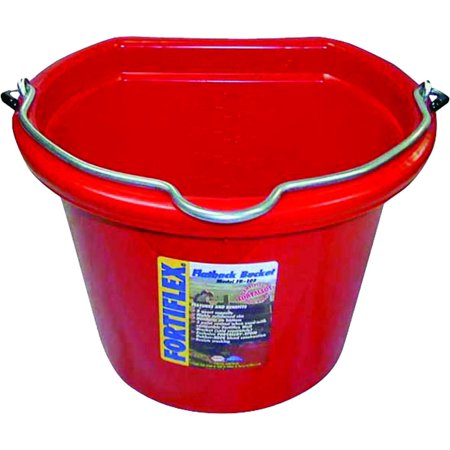 Fortex/Fortiflex Fb108R 8Qt Flat Side Bucket Red 6 Pack