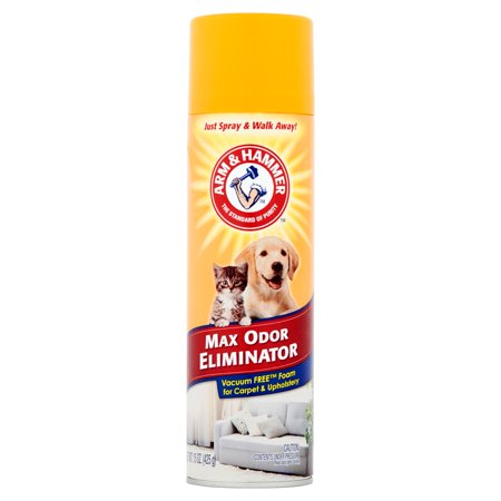 Arm & Hammer Max Odor Eliminator, Vacuum Free Foam for Carpet & Upholstery, 15 (Best Dog Carpet Cleaner)