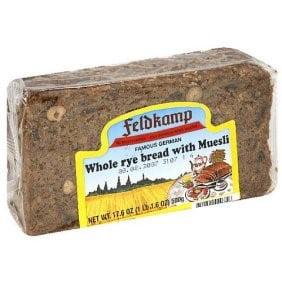 Feldkamp Whole Rye Bread with Muesli, 16.75 oz (Pack of 12) Sunflower Rye Bread