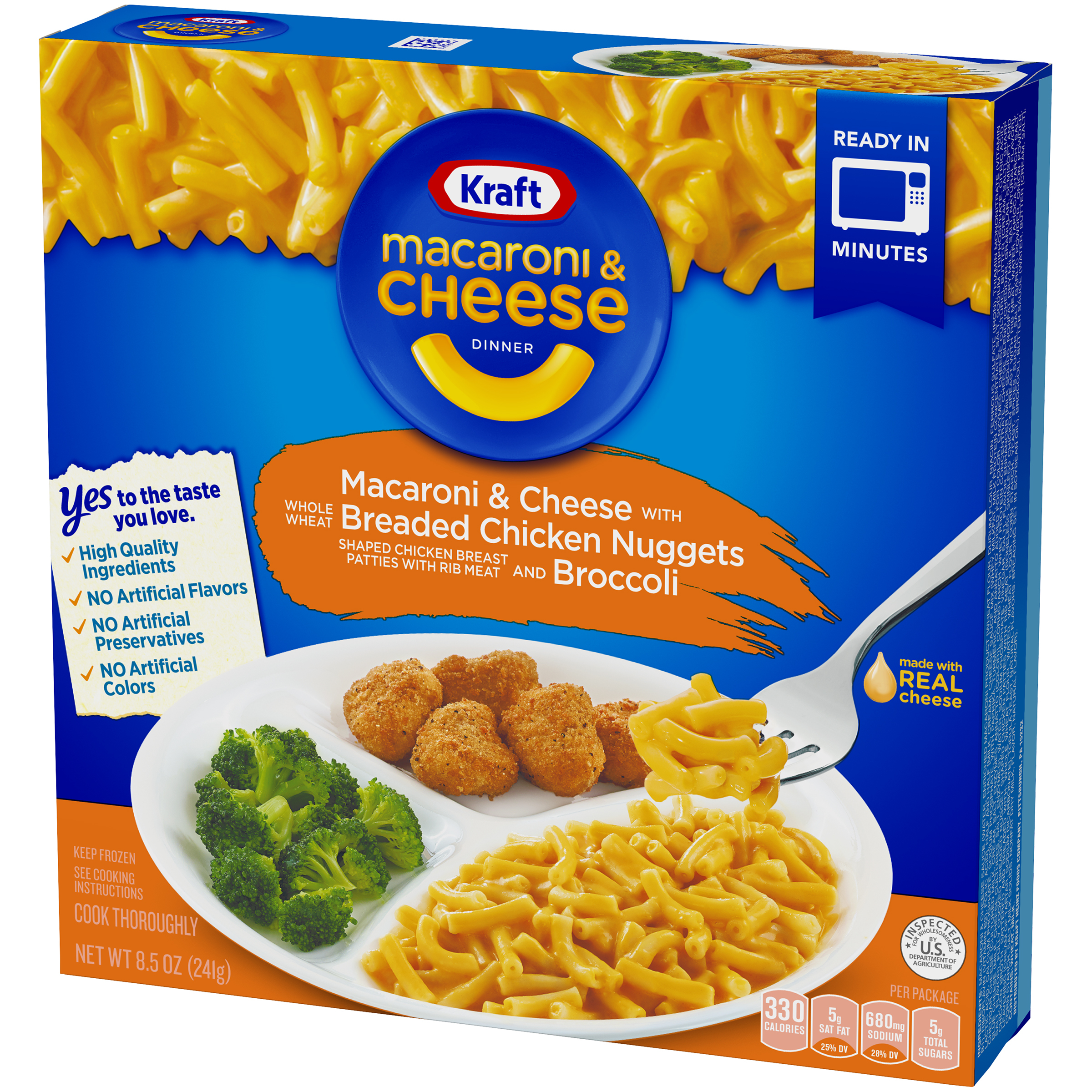 Kraft Macaroni And Cheese Dinner With Breaded Chicken Nuggets And Broccoli 8 5 Oz Box Walmart Com Walmart Com
