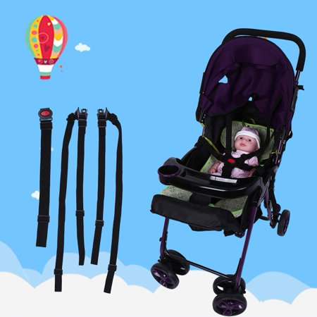 LHCER Baby Stroller Safety Strap, Baby Chair Safety Harness,Adjustable Baby Stroller Safety Strap Kids Dining Chair 5 Point Harness Child Pram Seat