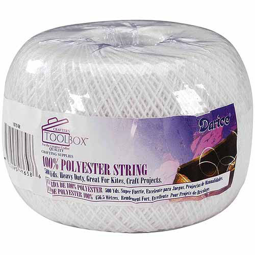 Polyester String, 500 Yards, White