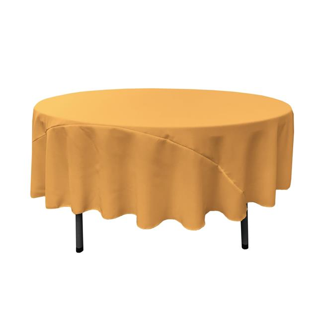 TCpop90R-GoldP14 Polyester Poplin Tablecloth, Gold - 90 in. Round - image 1 de 1