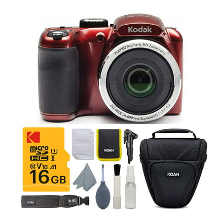 Kodak PIXPRO AZ252 Astro Zoom 16MP Digital Camera (Red) w/...