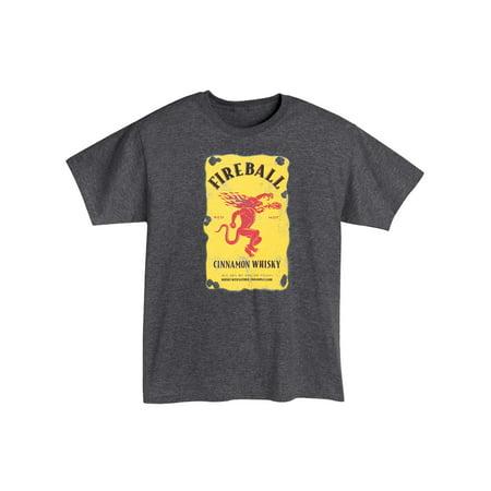 Promotion Code Halloween City (Brew City Promotions Men's Fireball Cinnamon Whisky Logo T-Shirt - Charcoal)