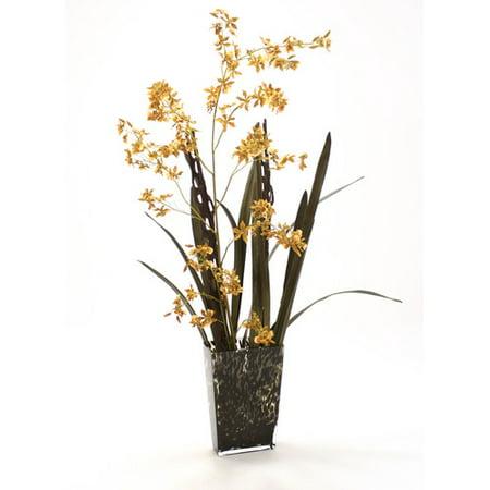 Distinctive Designs Waterlook Silk Arrangement In Leopard Print Vase