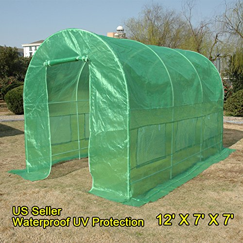 Quictent 12' X 7' X 7' Portable Greenhouse Large Walk-in Green Garden Hot House by