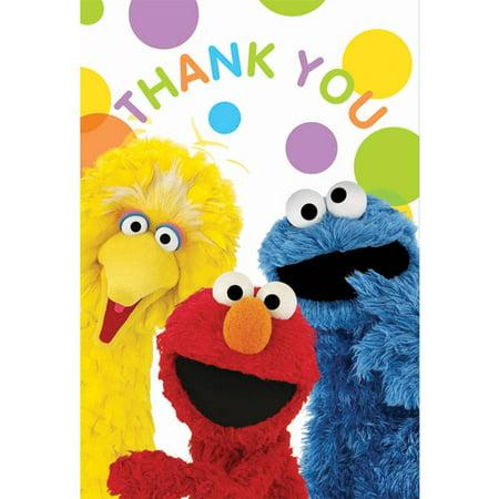 Sesame Street Party Thank-You Notes, 8pk