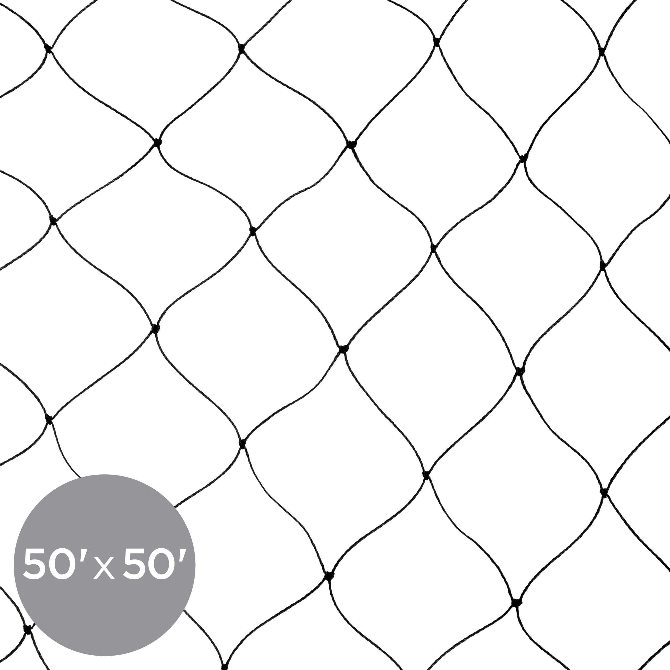 Best Choice Products 50x50ft Multi-Filament Protective Mesh Bird Netting for Birds, Poultry, Game, and Pens - Black