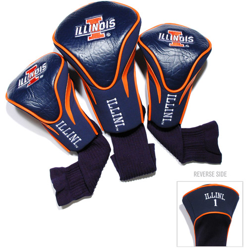 Team Golf NCAA Illinois 3 Pack Contour Head Covers