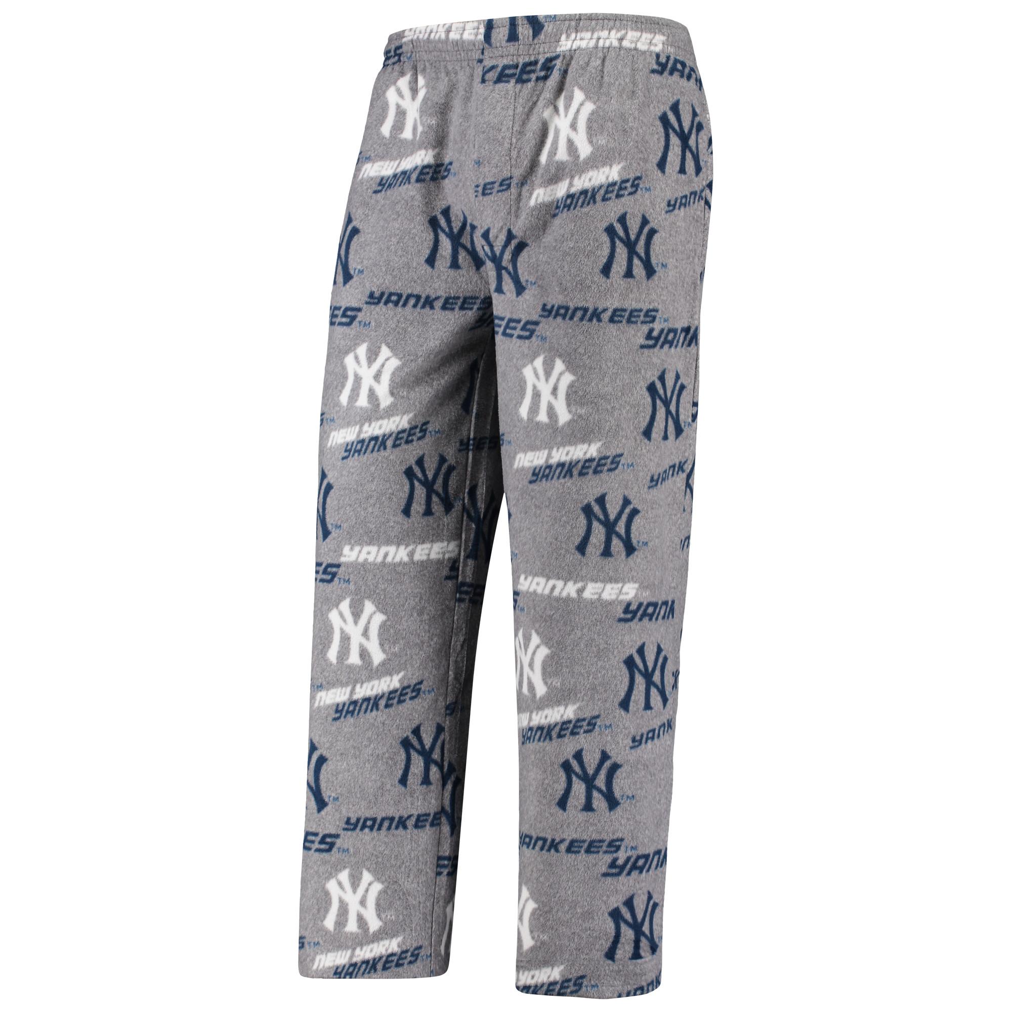 New York Yankees Concepts Sport Achieve Fleece Pants - Gray