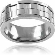 Daxx Men's Stainless Steel Spinner Ring