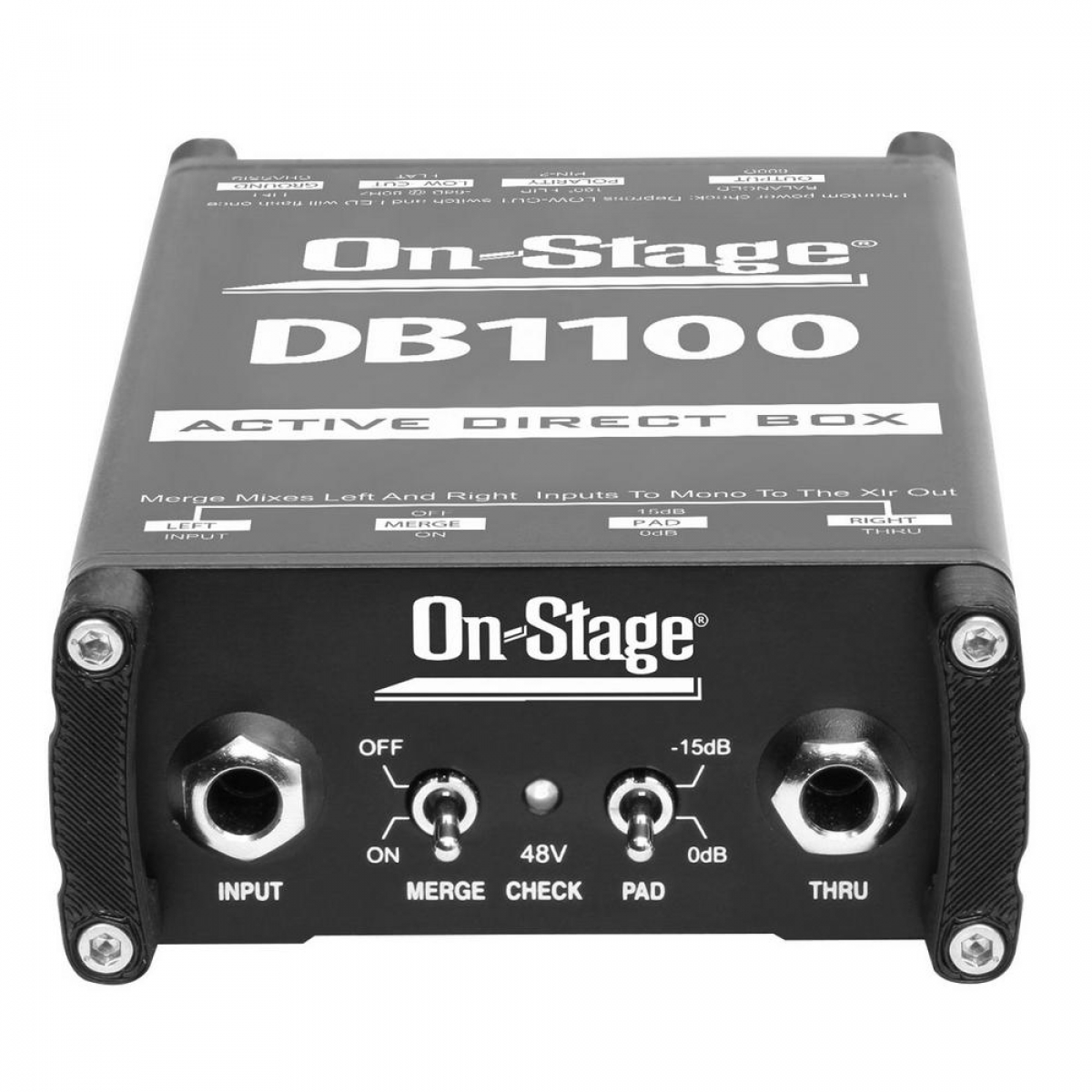 On-Stage DB1100 Active DI Box with Stereo-to-Mono Summing