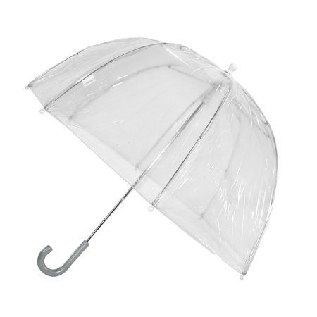 totes ISOTONER  Kids Vinyl Pinch-Proof Clear Bubble Umbrella, Clear