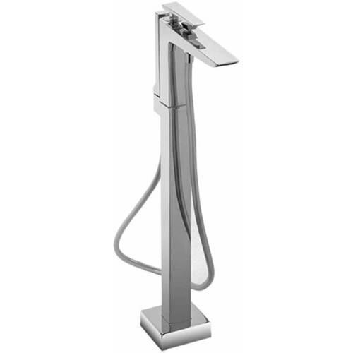 Toto Single Handle Freestanding Tub Filler with Handheld Shower, Available in Various Colors