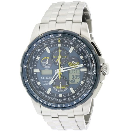 Eco-Drive Skyhawk Blue Angels A-T Perpetual Mens Watch (Citizen Skyhawk At Stainless Steel Chronograph Atomic)