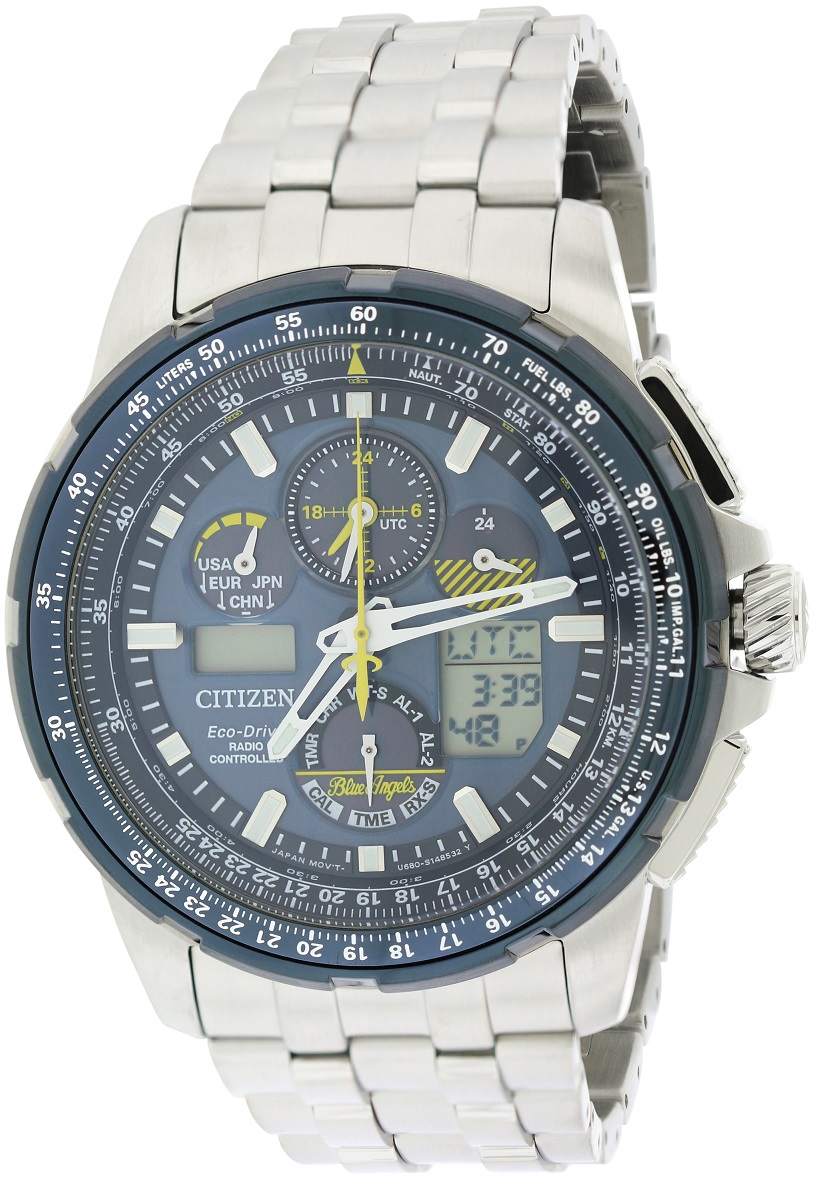 Citizen Eco-Drive Skyhawk Blue Angels A-T Perpetual Mens Watch JY8058-50L