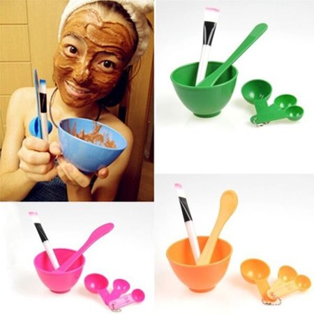 (Girl12Queen 6 in 1 Facial Mask Bowl Brush Spoon Face Care Women Makeup Beauty Tools Set)