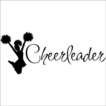 - Cheerleader Decal wall vinyl lettering sayings home decor art sticker