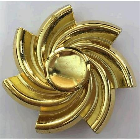 Golden Spiral Metal EDC Fidget Spinner by Blinkee