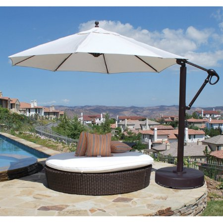 Galtech 11 Ft Cantilever Aluminum Sunbrella Patio Umbrella With