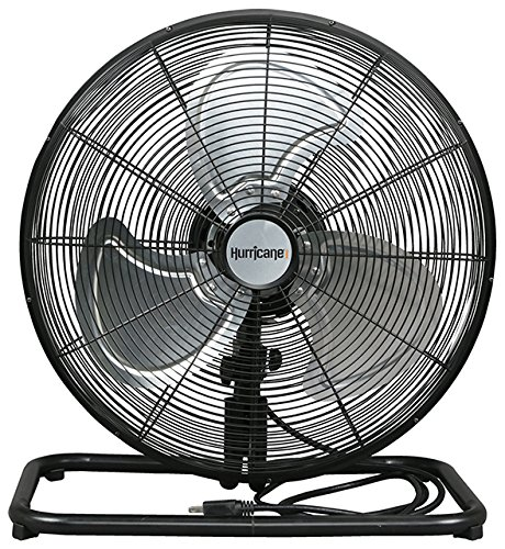 Hurricane Floor Fan - 18 Inch   Pro Series   High Velocity   Heavy Duty Metal Floor Fan for Industrial, Commercial, Residential, and Greenhouse Use - ETL Listed, Black