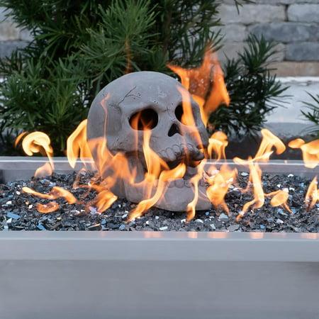 Fireproof Human Fire Pit Skull Gas Log Halloween Decor - Halloween Fire Pit