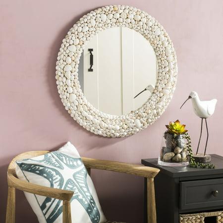 Safavieh Humphrey 24 in. Shell Mirror, White Mix (Floral Shell Mirror)