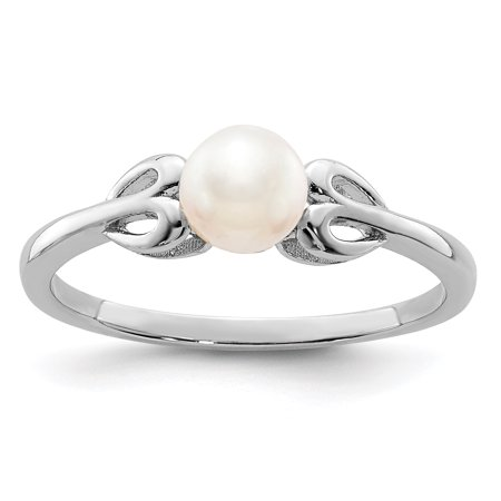 925 Sterling Silver Freshwater Cultured Pearl Band Ring Size 9.00 Set Birthstone June Gemstone Gifts For Women For Her