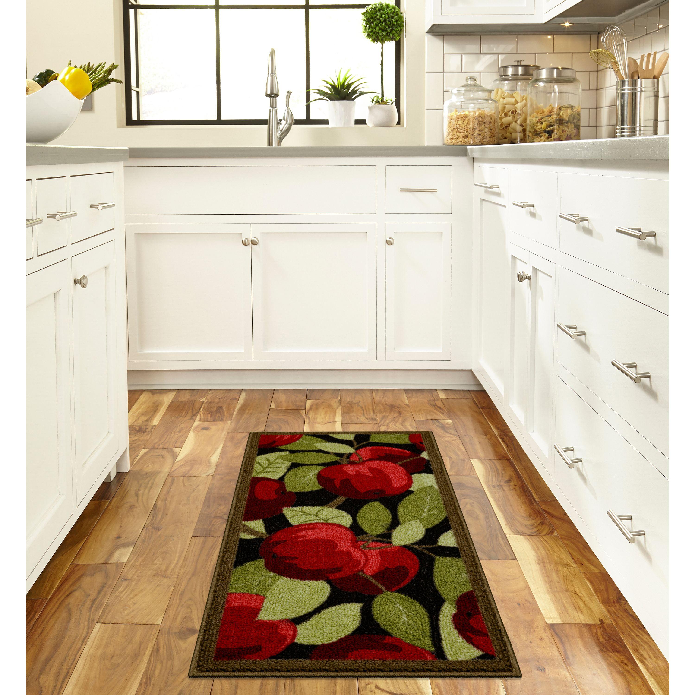 Better Homes & Gardens Red Apples Kitchen Loop Print Rug, Multiple ...