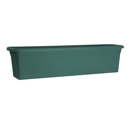 Plastic Window Box (Rugg AW30-FG Window Box, Green, Polyresin )