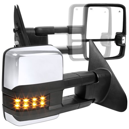Spec-D Tuning For 2007-2017 Toyota Tundra Power Heated Tow Mirrors+Smoke LED Signals+Blind Spot 2008 2009 2010 2011 2012 2013 2014 2015