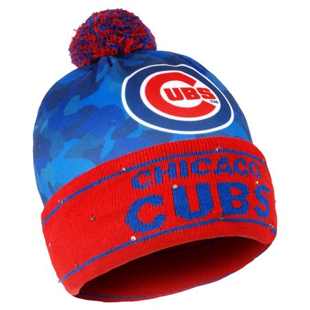 Chicago Cubs Camouflage Light Up Cuffed Knit Hat - Royal - No Size ... 94710ef38d2